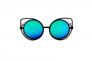 Vintage Retro Cat Eye Mirrored Sunglasses