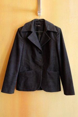 Vintage Retro dunkelblaues Jacket aus Cord, Gr. 36