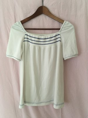 Vintage Retro Sailor T-Shirt mit blauen Streifen