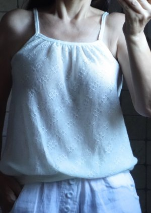 Knitted Top natural white polyacrylic