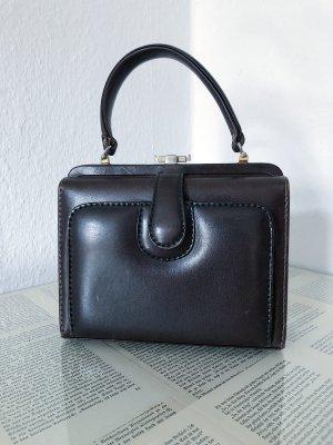 Vintage Retro Tasche Handtasche rot braun schwarz