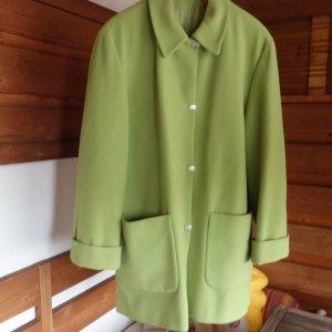 Vintage Abrigo de lana verde claro-verde pálido lana merina
