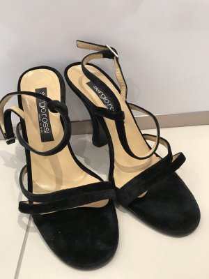 Sergio Rossi Strapped Sandals black leather