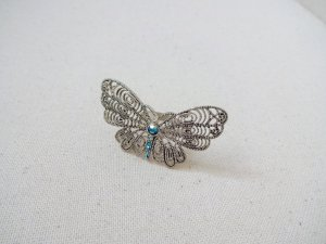 vintage Ring filigran schmetterling