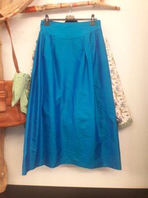 Silk Skirt blue-neon blue