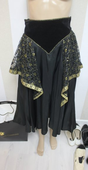 Maxi Skirt black-gold-colored