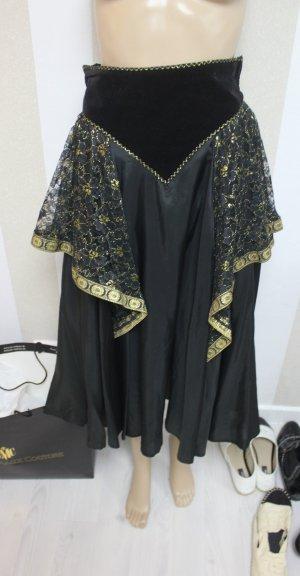 Jupe longue noir-doré