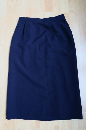Vintage Rock in dunkelblau Bleistiftrock high waist