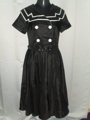 Vintage Rockabilly Peticoat Kleid im Marine Look Größe 40/42