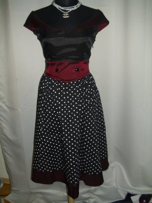 Vintage Rockabilly Petticoat Kleid Größe M = 38 (Neu)