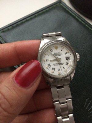 Rolex Orologio con cinturino di metallo argento