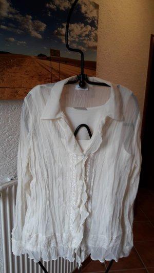Yessica Ruffled Blouse natural white
