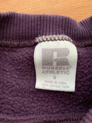 Vintage Russell Athletic Sweater in Lila aus LA S Sportpullover Rundhals Sweatshirt