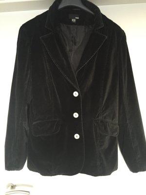 Vintage Samt Blazer Gr. 42 schwarz