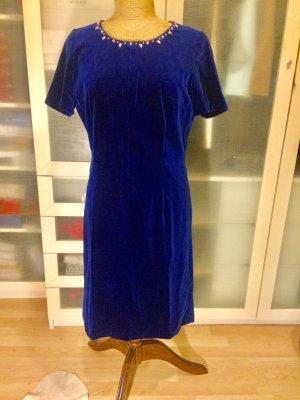 Vintage Samt Etui Kleid Gr. 38