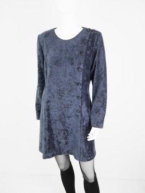 Vintage Samt Kleid aus Material-Mix mit ausgestellter Form