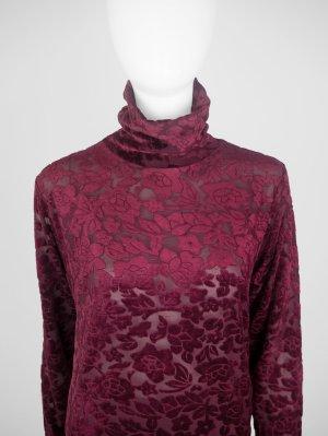 Turtleneck Sweater bordeaux synthetic fibre