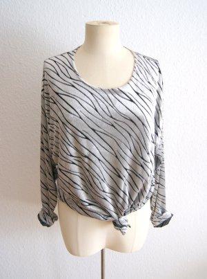 Vintage Samtpullover silber, oversized Pullover Samt Zebra, 80er festival blogger