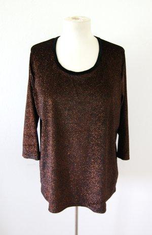 Vintage Samtsweater bronze, oversized Shirt Glitzer, boho festival blogger