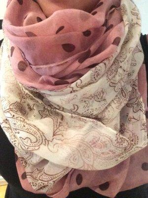 Vintage Schal in alt Rosa