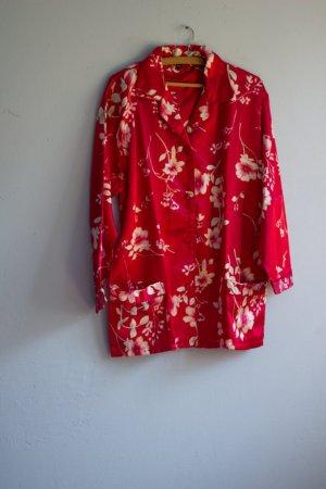 Vintage Schlafanzug Blumenmuster Kirschblüten 40/42