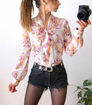 Vintage Tie-neck Blouse multicolored