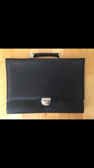 Vintage: Schmale Lederaktentasche. - Nie benutzt!