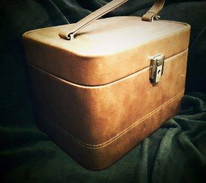 Vintage Schminkkoffer / Beautybag aus Leder
