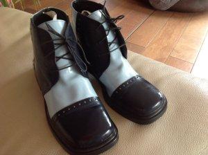 Vintage Schnür Boots, Lack/Leder. Gr. 39