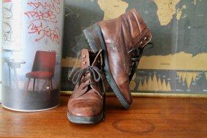 Botas con cordones marrón Cuero