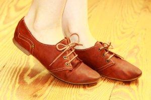 vintage Schnürschuhe aus Leder
