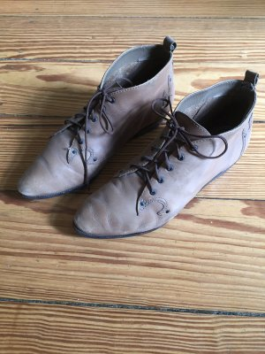 Nobrand Lace Shoes grey brown leather