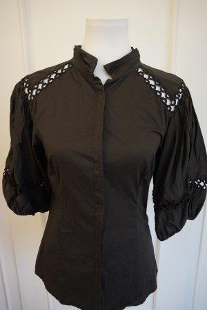 Blusa de manga corta negro