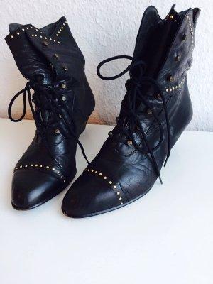 Vintage Schuhe Retro Stiefeletten Leder von Andrea Sabatini