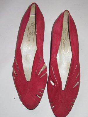 Vintage Schuhe rot Retro Gr. 8 1/2