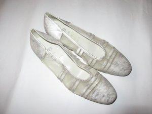Vintage Schuhe weiß Retro Gr. 8 1/2