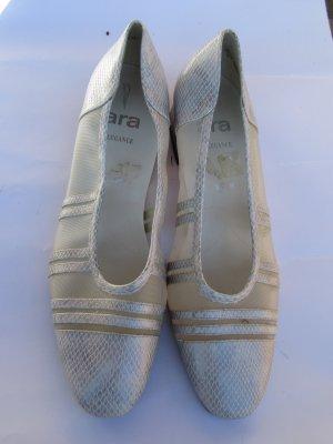 Vintage Zapatos de cuña blanco