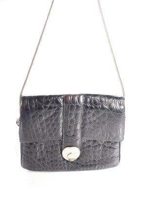 Vintage shoulder bag black lacquer design