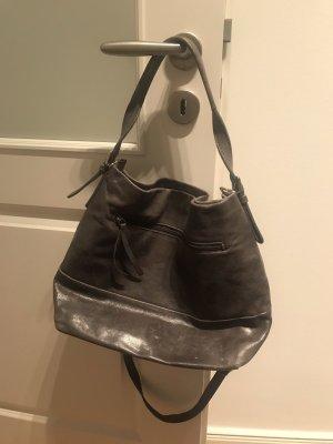 Jost Sac porté épaule gris anthracite cuir