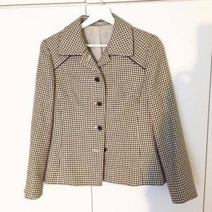 Vintage-Schurwoll-Blazer mit Hahnentritt-Muster