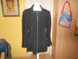 Vintage- schwarze Jacke mit elegantem Kragen Gr. 38 von Ambiente