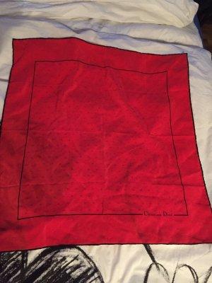 Christian Dior Halsdoek rood-zwart Zijde