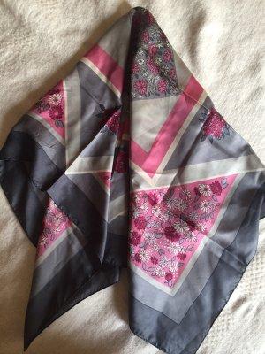Vintage Foulard en soie gris-rose soie
