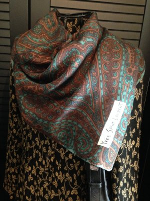 Saint Laurent Foulard en soie multicolore soie