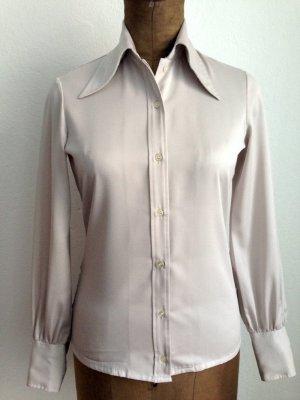 Vintage Seventies Bluse mit großem Kragen, Gr. 38