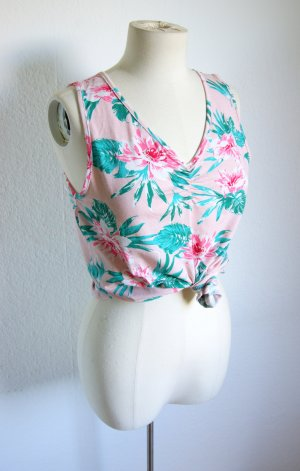 Vintage Shirt Hawaii, florales Shirt pink