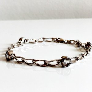 Vintage Silver Bracelet silver-colored-white real silver