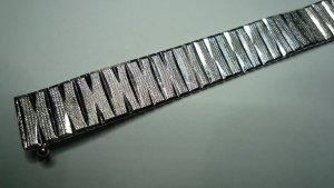 Vintage Silberarmband 925er Sterlingsilber 18,5 cm diamantiert / 26 gr.