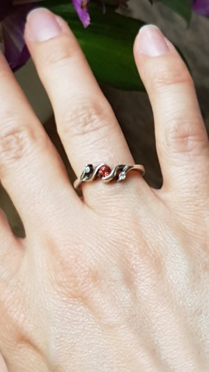 Vintage Silberring, Ring, Silber, 925er Sterling Silber, Gr. 15,3