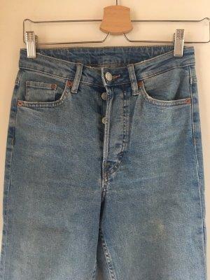 H&M Hoge taille jeans lichtblauw